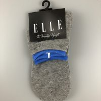 ELLE少女運動中筒襪- 灰