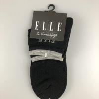 ELLE少女運動中筒襪- 黑