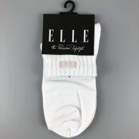 ELLE少女中筒襪- 白