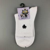 刺繡短襪- 白