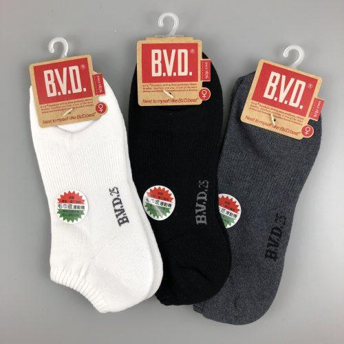 BVD中性休閒毛巾底船襪