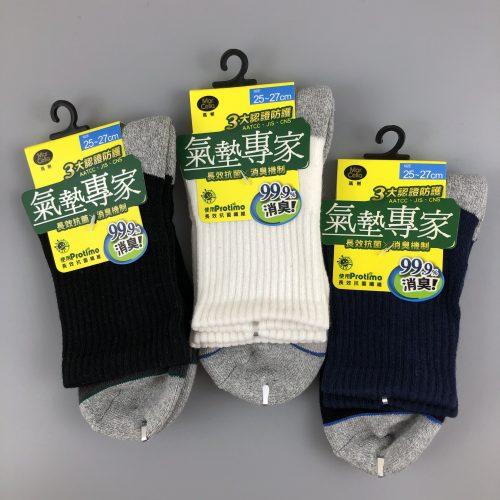 抑菌氣墊1/2中筒襪