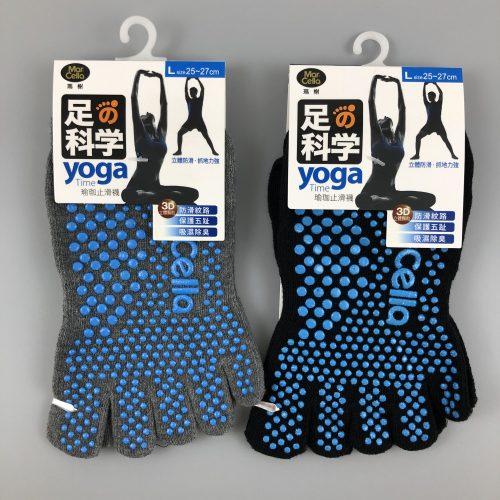 瑜珈止滑五趾船襪