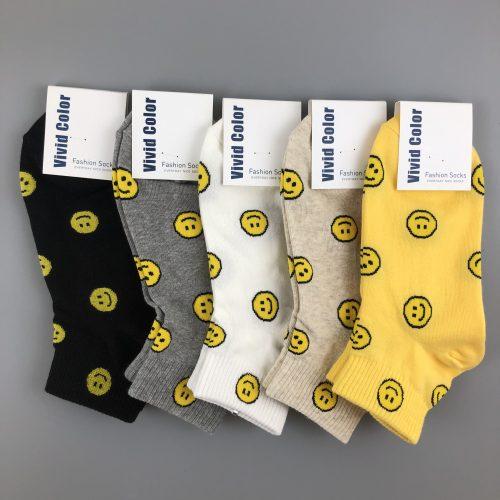 嬉皮風笑臉造型短襪