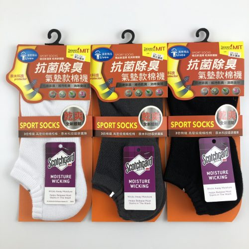 3M抗菌消臭氣墊船型襪