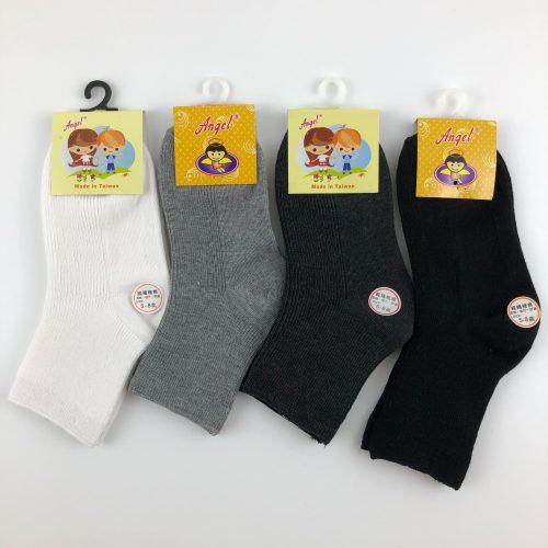 素面兒童中筒襪